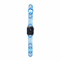 "Art Love Passion ""Blue Diamonds"" Blue Aqua  Apple Watch Strap"