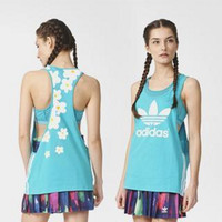 """Adidas"" Fashion Print Flowers Leisure Movement Breathable Vest"