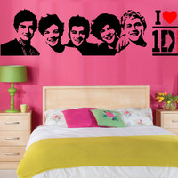 ONE DIRECTION wall art vinyl room sticker transfer decal 1D FAST DISPATCH
