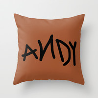 Andy Throw Pillow by Ashleigh