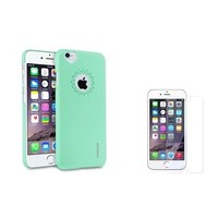 """Insten Mint Green Heart Back Clip On Hard case For Apple iPhone 6 4.7"""" 4.7 Inches+Screen Protector - Walmart.com"""