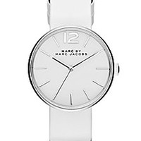 Marc by Marc Jacobs - Peggy Stainless Steel & Leather Strap Watch/White - Saks Fifth Avenue Mobile