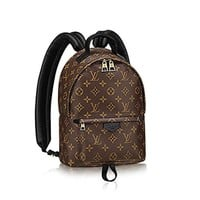 Louis Vuitton Monogram Tide brand fashion men's canvas Palm Springs backpack made in France F