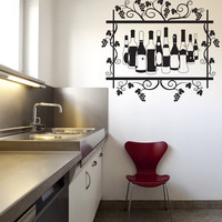 Vinyl Wall Decal Sticker Wine Bottles #OS_DC311