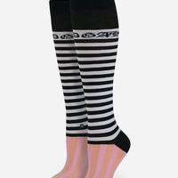 Stance X Rihanna Candy Bars Tall Boot Womens Socks Pink One Size For Women 27035435001