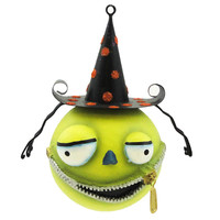 Halloween ZELGADO Resin/Metal Ornament Witch Zipper Mouth 67928