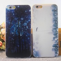 Fashion New The forest at night Phone Cover Selfie Phone Case for iPhone 5 5S 6 6S 6 6S Plus 7 7s Plus
