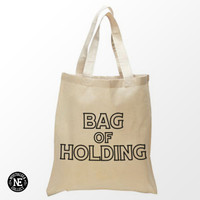 Bag of Holding Tote Bag - 15X16 Inch Natural Tote Bag, White & Black