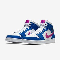 Air Jordan 1 Mid Hyper Royal Hyper Violet-White Sneaker - Best Deal Online