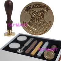 Harry Potter Hogwarts School Badge Vintage Wax Seal Stamp Rosewood Gift Set