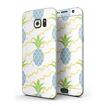 Animated Retro Pineapples - Full Body Skin-Kit for the Samsung Galaxy S7 or S7 Edge