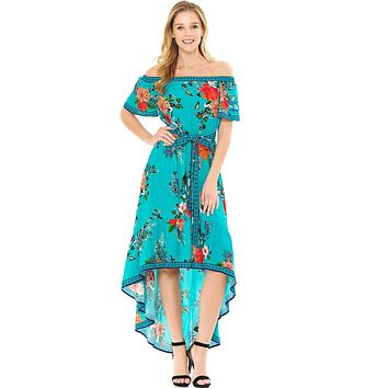 Jewel Bloom Midi Dress