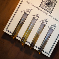 Natural Cologne Sampler - Four Samples, Botanical, for Men and Women