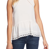 1.STATE Eyelet Flounce Tank Top | Nordstrom