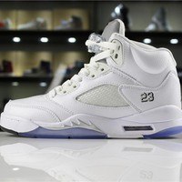 "Air Jordan 5 ""Metallic Silver"" 136027-130"