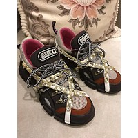 Gucci Men's Leather Fashion Sneakers Shoes #583