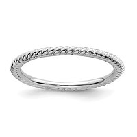 Sterling Silver Stackable Expressions 1.5mm Twisted Ring