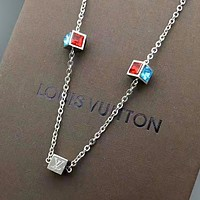 LV Louis Vuitton New fashion diamond women personality necklace women Silver