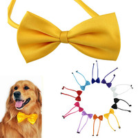 1pcs Multicolor Dog neck tie Dog bow tie Cat tie Pet grooming Supplies Pet headdress Aug4