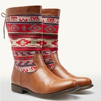 Aztec Woven Riding Boots