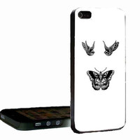 Bird And Butterfly Harry Styles 1D tattoo customized for iphone 4/4s/5/5s/5c ,samsung galaxy s3/s4/s5 and ipod 4/5 cases