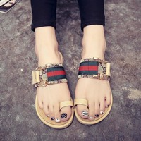 Korean Shoes Flat Stylish Slippers [11884975251]