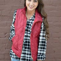 With My Crew Vest- Red- FINAL SALE