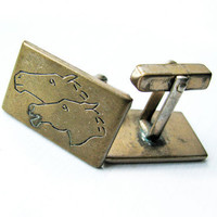 Vintage Horse Cufflinks, Gift for Him - Boutons de Manchett. Vintage For Him by My Chouchou.