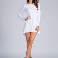 High-Low Arrival Fit 'N Flare Dress