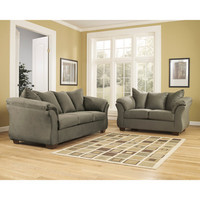 Flash Furniture Signature Design By Ashley Darcy Living Room Set In Sage Fabric
