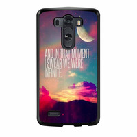 Perks Of A Wall Flower Quote Design Vintage Retro LG G3 Case