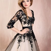 Ball Gown With Long Sleeves Lace 2012 Wedding dress WD2131