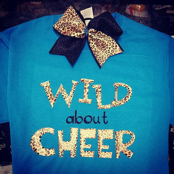 Wild About Cheer Tee w/ Matching Tik Tok by ThingsToCheerAbout