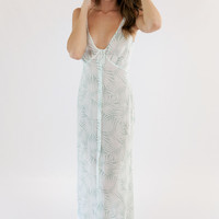 For Love and Lemons Desert Palm Maxi Dress in Sage Palm