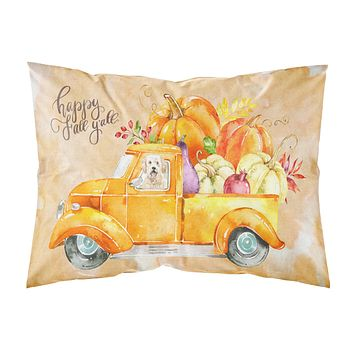 Fall Harvest Goldendoodle Fabric Standard Pillowcase CK2618PILLOWCASE