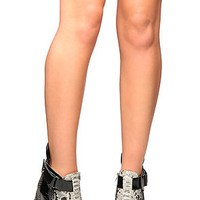 Jeffrey Campbell Warble Shoe in Black and Grey Combo