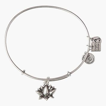 Women's Alex and Ani 'Lotus Blossom' Expandable Wire Bangle