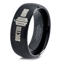 Dr Who Ring Doctor Time Lord Design Gallifrey Symbol Ring Mens Fanatic Geek Sci Fi Jewelry Boys Girl Womens Ring Fathers Day Gift Holiday Tungsten Carbide 258