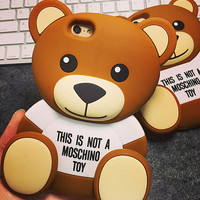 Cute Bear Silicone creative case for iPhone 5s 6 6s plus creative case