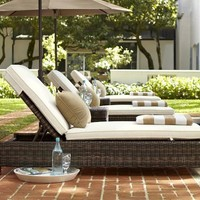 Torrey All-Weather Wicker Single Chaise   Pottery Barn
