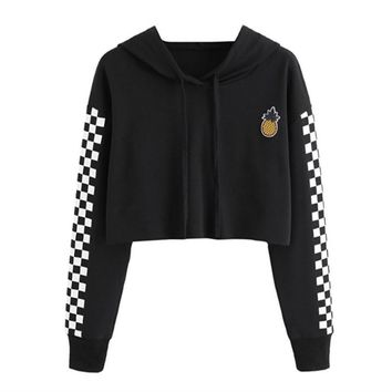Women's Fashion Hoodies Pullover Long Sleeve Print Hats [1913592381494]