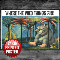 Book Cover Art Print Poster Where the Wild Things Are