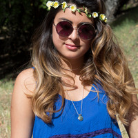 "Flower Crown - ""Layla"" Daisy chain, flower headband, festival headband, hippie crown"