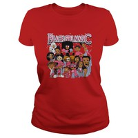 Black Girl Magic Garnet, Susie Carmichael, Tiana, Shuri, Betty Boop shirt Ladies Tee