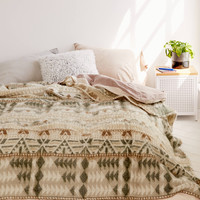 Brushed Geo Camp Bed Blanket | Urban Outfitters