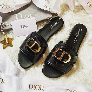 Dior Women's CD Letter Slippers Shoes