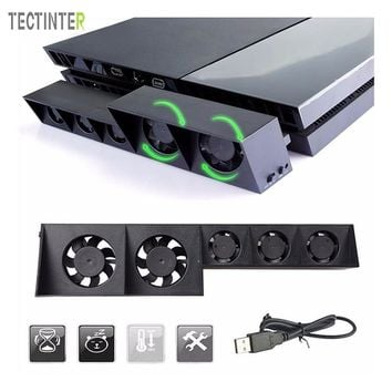 For PS4 External Cooling Fan For Sony PlayStation 4 Host Cooler Turbo Temperature Control Fan Games Accessories