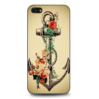 Flower Anchor Tattoo iPhone 5 | 5S case