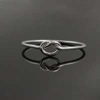 Love knot ring. Sterling Silver knot ring. Dainty infinity ring. Forget me not knot