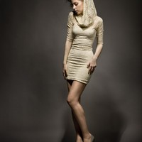Hooded Lace Dress